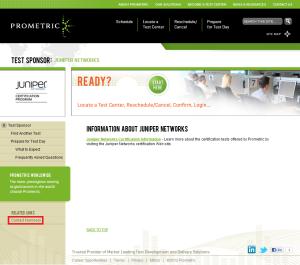 Prometric Juniper Info - Annotated