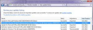 Update Install Log