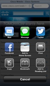 Adding Cisco.com to iOS Home Screen