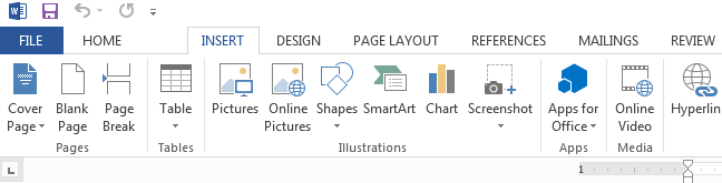 Office 2013 Ribbon (Default Appearance)