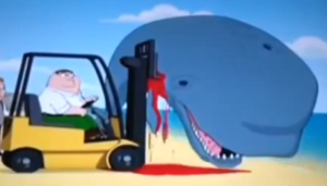 Family Guy - Whale on a Forklift