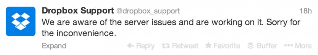 Dropbox Twitter Post
