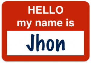 Hello My Name Is Jhon