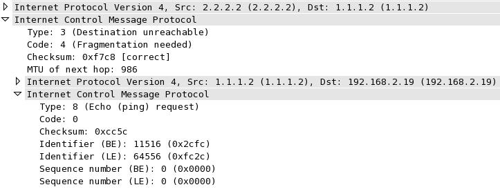ICMP Type3/Code4 Decode