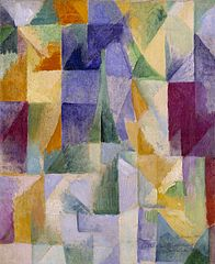 """Windows Open Simultaneously (First Part, Third Motif)"" by Robert Delaunay. Public Domain image."