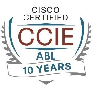 Cisco CCIE ABL 10 Year Logo
