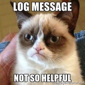 Log Message Not So Helpful