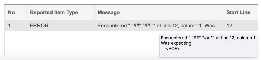 DCNM Syntax Validation Error