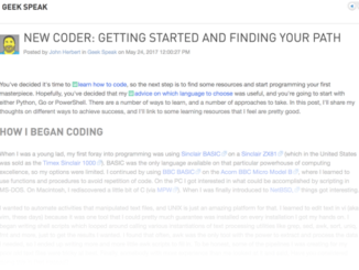 New Coder: Getting Started and Finding Your Path