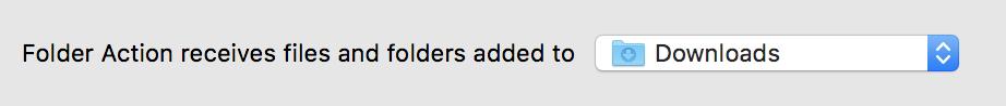 Automator - Folder Selection