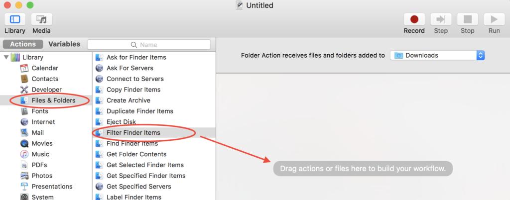 Automator - Add File Filter