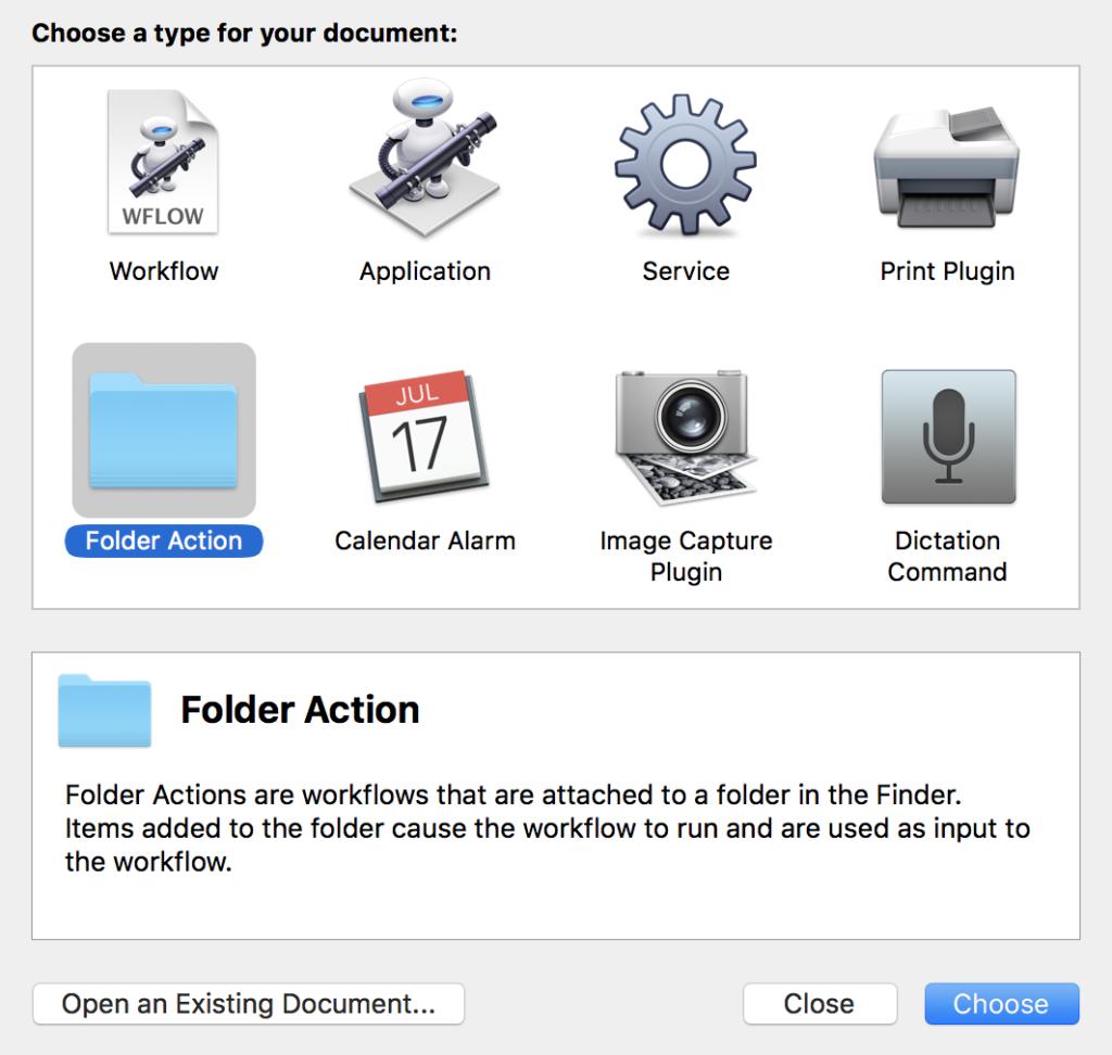 Automator - New File