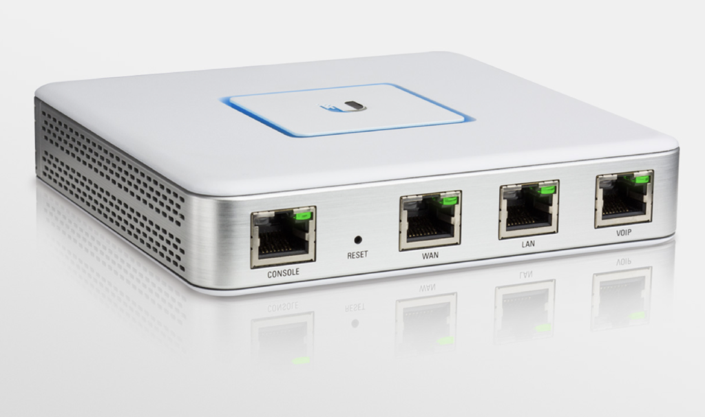 Ubiquiti Networks Unify Security Gateway (USG). Image courtesy of ubnt.com