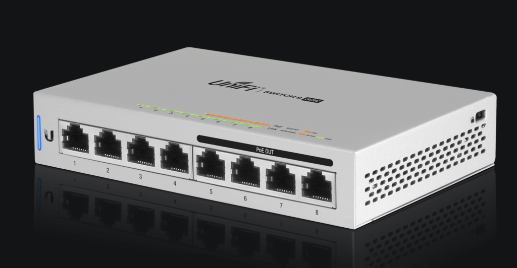 Ubiquiti Networks Unify Switch-8 (US-8). Image courtesy of ubnt.com