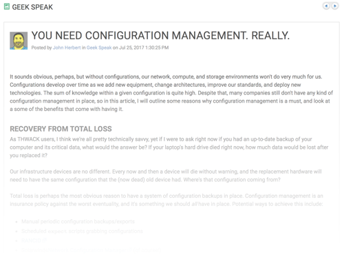 You Need Configuration Management. Really.