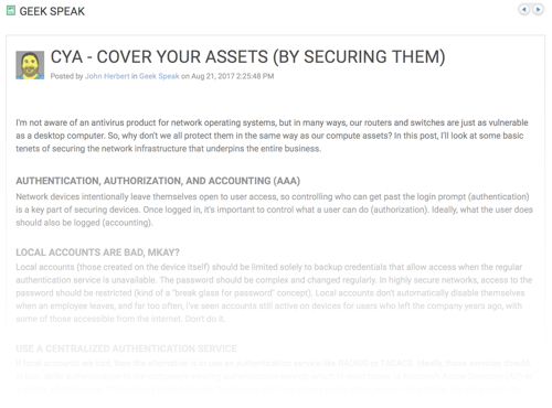 CYA! Cover Your Assets (By Securing Them)