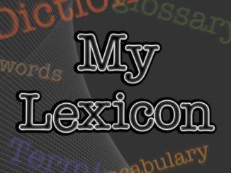 My Lexicon