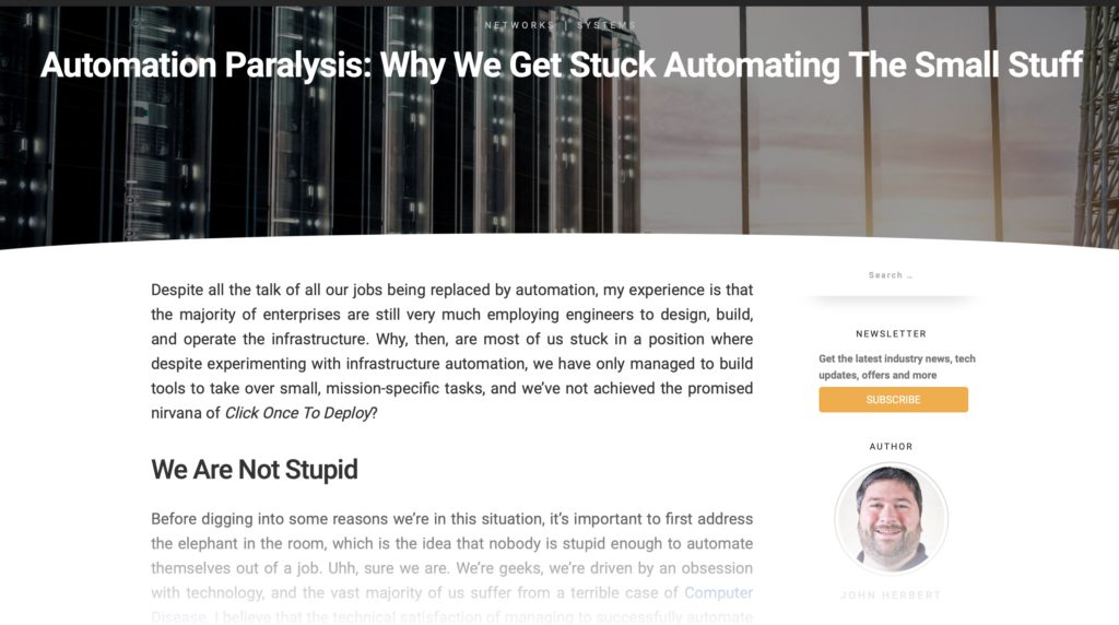 Automation Paralysis