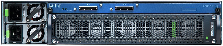 Juniper EX4500 Rear View. Image courtesy Juniper.net.