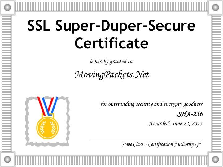 Secure Certificate