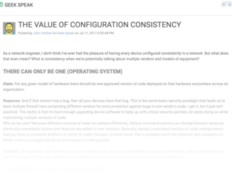 The Value of Configuration Consistency