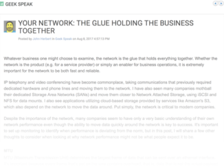 Your Network: The Glue Holding the Business Together